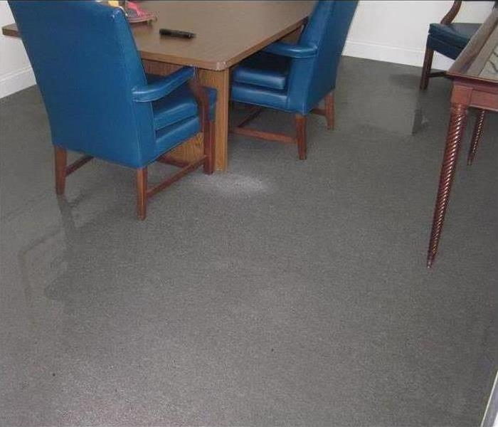 Water Damage – Tampa Office Before